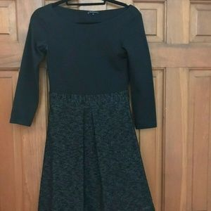 Theory black dress with bouclé skirt, size 2